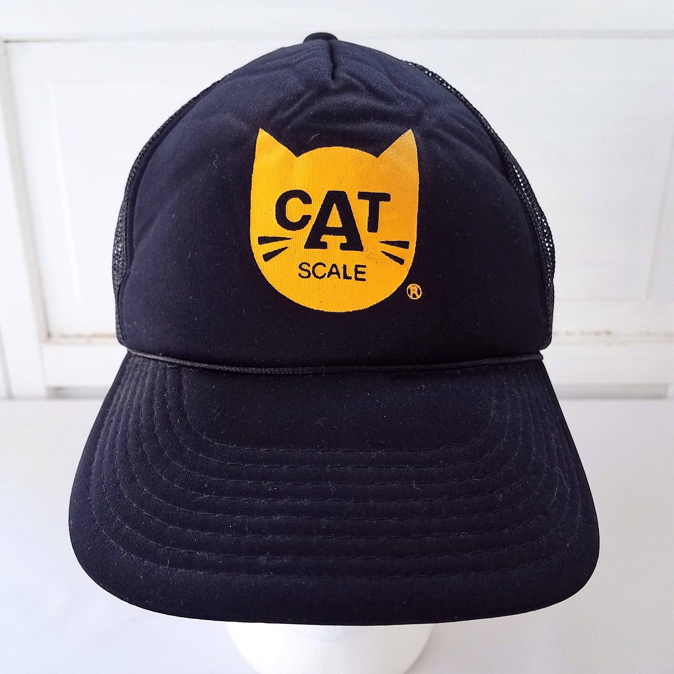 b33da5ce682 Vintage CAT Scale Trucker Hat Cap Snapback Mesh Black Yellow Weigh Station  by TraSheeWomen on Etsy  cat  catscale  weighstation  trucker  truckdriver  ...