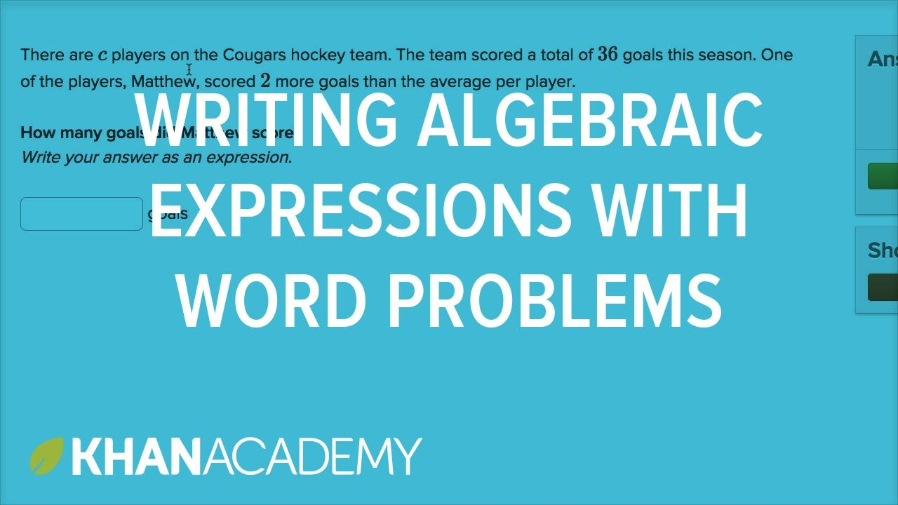 How to write algebraic expressions from word problems | 6th grade ...