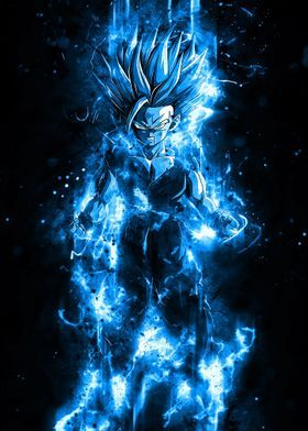 'Anime Gohan Aura Instinct' Metal Poster - Syarifkuroakai Art | Displate