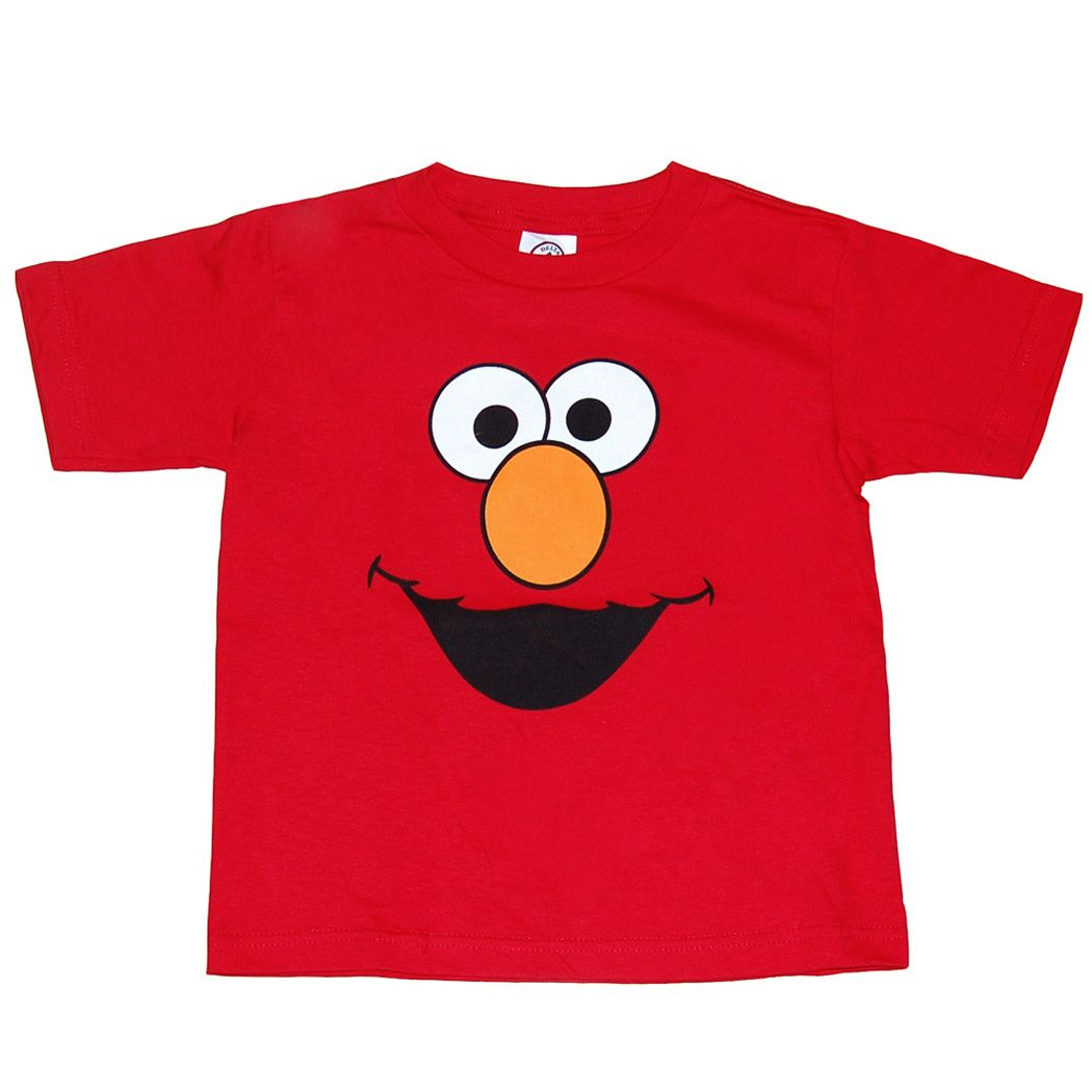 Sesame Street Elmo Face Infant TShirt Toddler tshirts