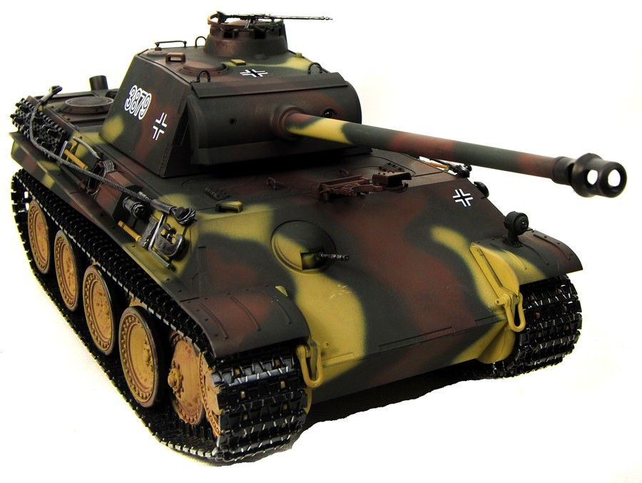 Taigen Hand Painted RC Tank Metal Upgrade Panther G