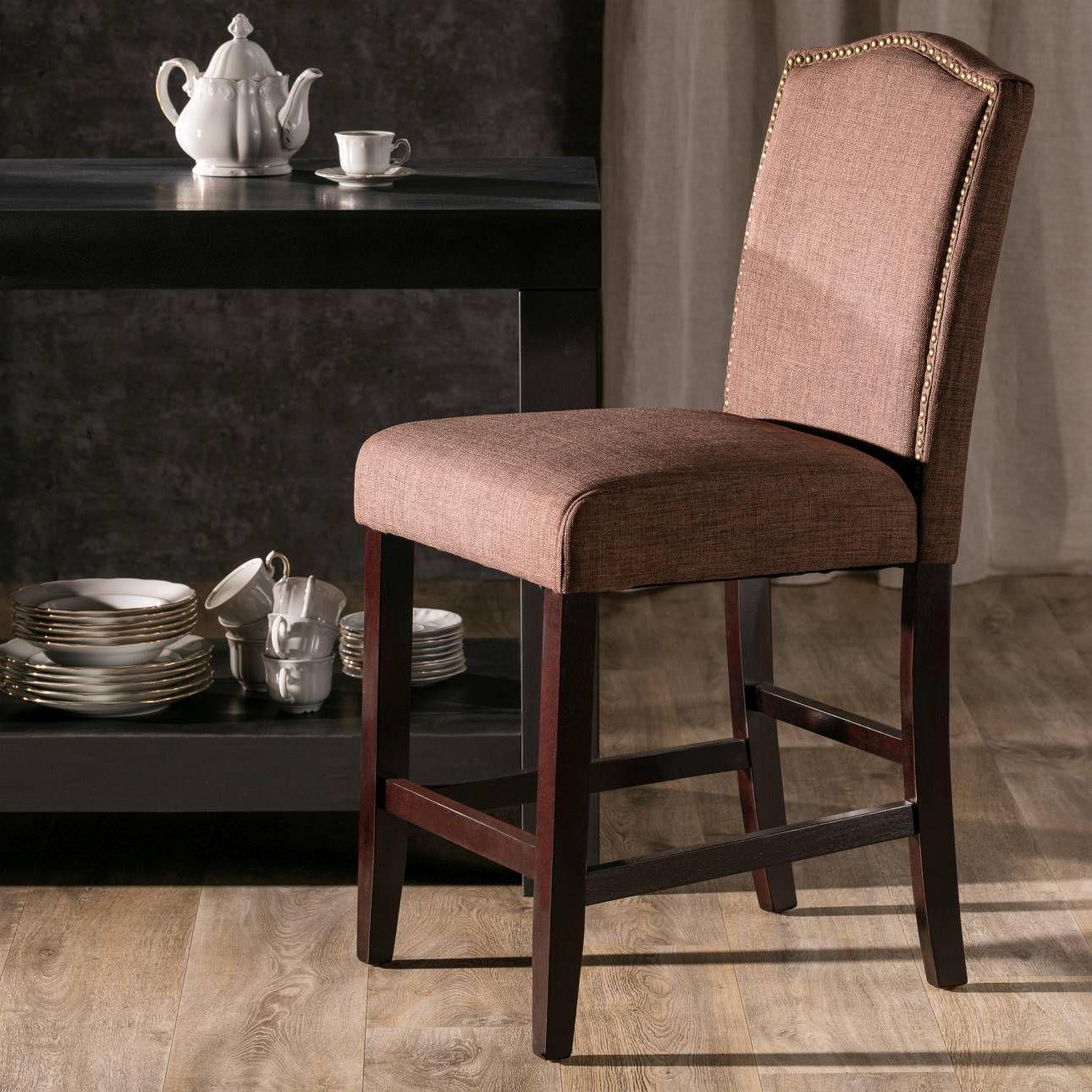 Dunkles Holz Und Hochwertiger #Stoff Machen Diesen Schlichten Stuhl Zum  Hingucker Im #Wohnzimmer