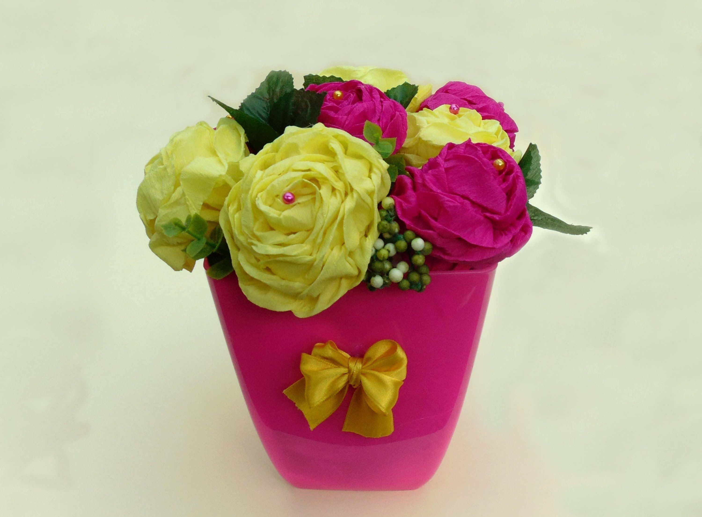 cmo hacer rosas de papel crep - Hacer Rosas De Papel