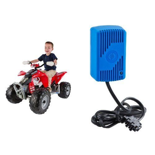 Peg Perego Polaris Red Outlaw with 12 Volt Quick Charger Bundle ...