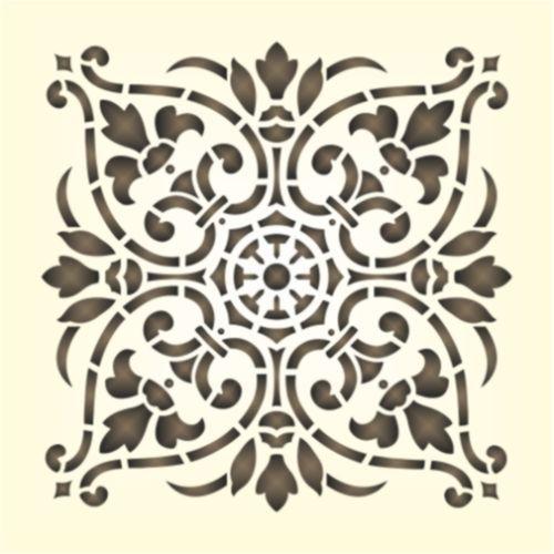 Details zu maler wandschablone wandschablonen schablone historisches ornament 9 wandschablonen - Wandtattoo orientalisch ...
