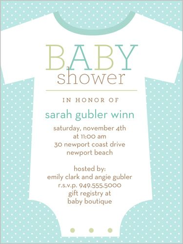 Little Loungewear Blue Baby Shower Invitation Loungewear, Shower - baby shower invitation