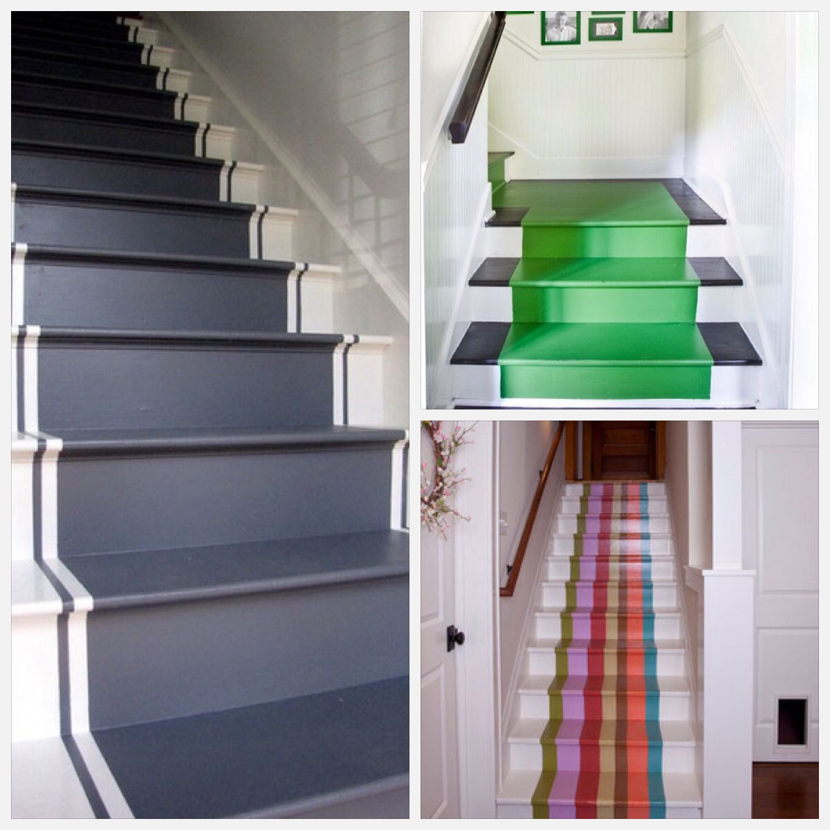 Painted Basement Stairs Ideas: Painted Stairs, Home, Stairs