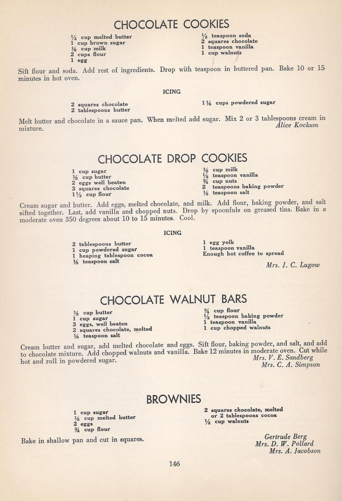 Vintage Cookies Recipes From 1940 Vintage Recipes Cookie Recipes Vintage Cookies