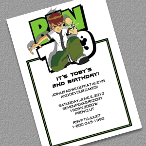 ben 10 birthday invitation printable
