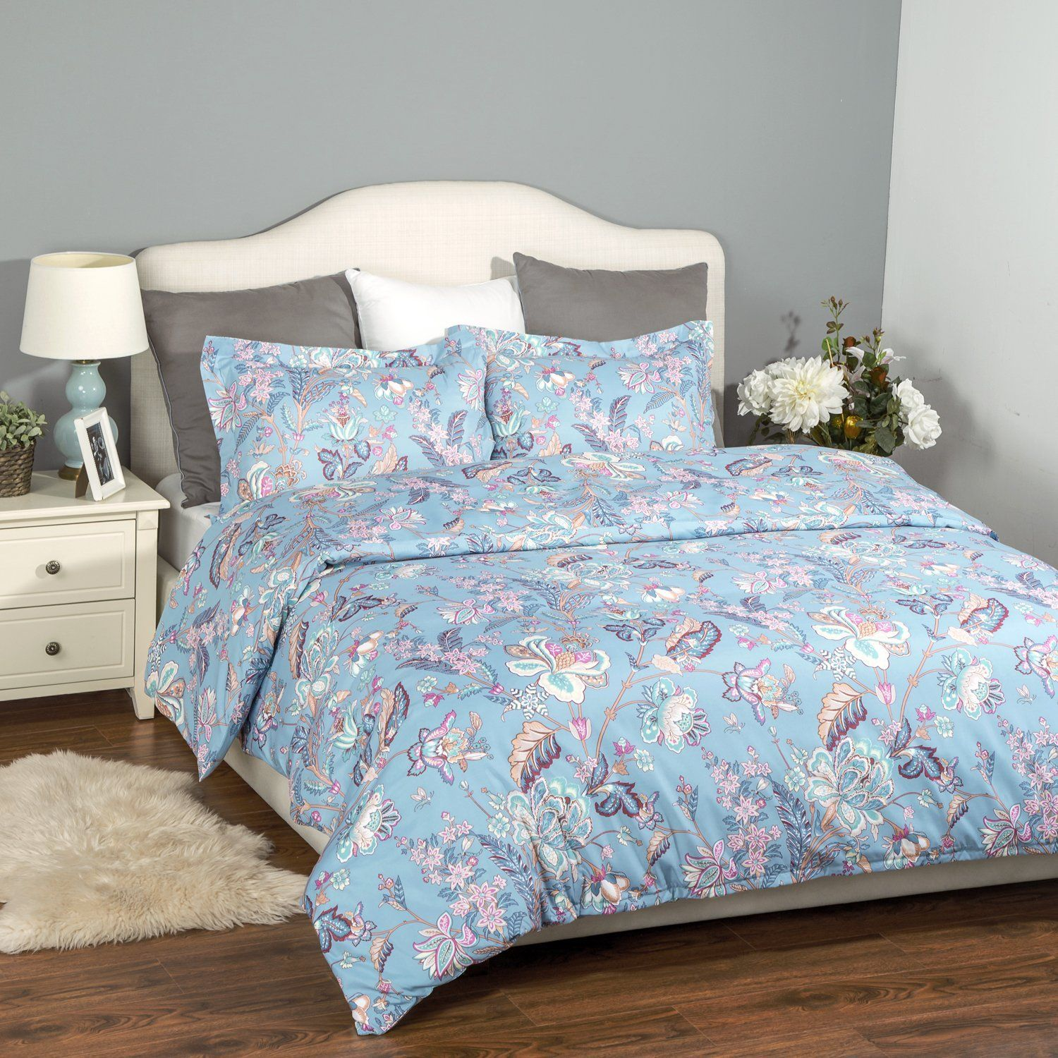 queen pieces full cover covers size duvet zipper with king closure