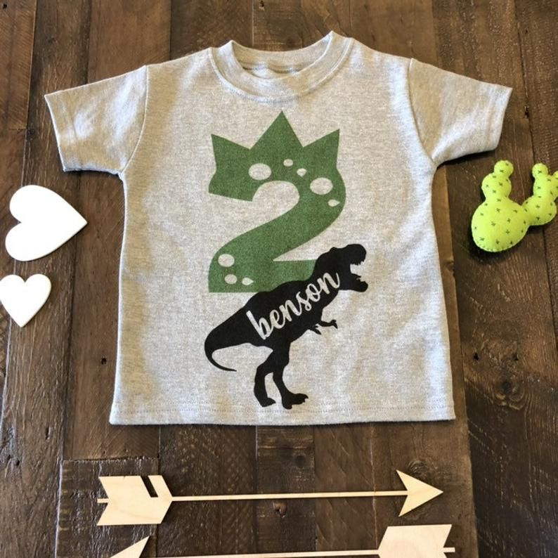 Two Rex Birthday Shirt Two Year Old Dino Birthday Shirt 2