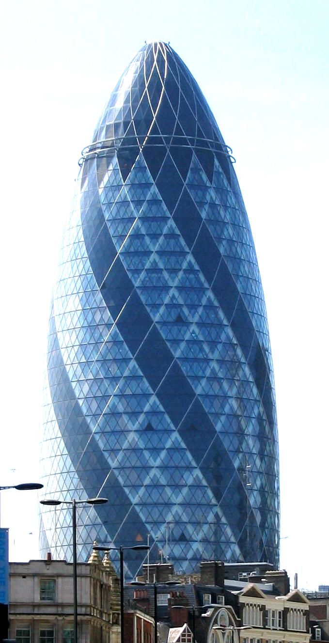 London Gherkin An Unusual Eggshaped Building Roadside - London-gherkin-an-unusual-eggshaped-building