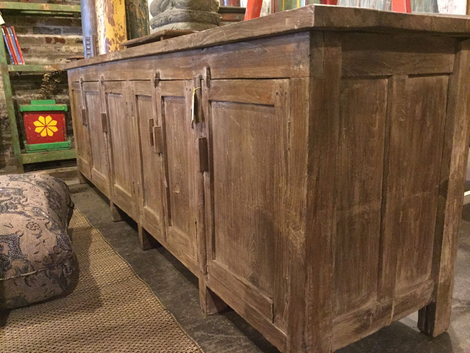 Reserved SALE Long And Low Reclaimed Antique Sideboard