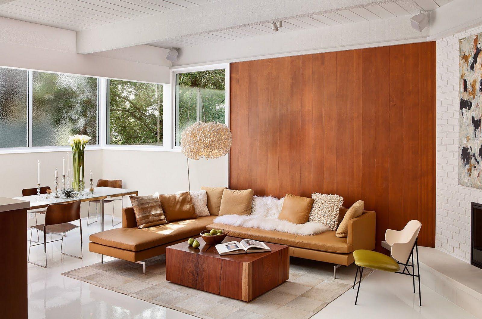 15 Astonishing Living Room Wood Wall Decoration Ideas In 2020 Mid Century Modern Living Room Modern Living Room Interior Mid Century Modern Living Room Furniture
