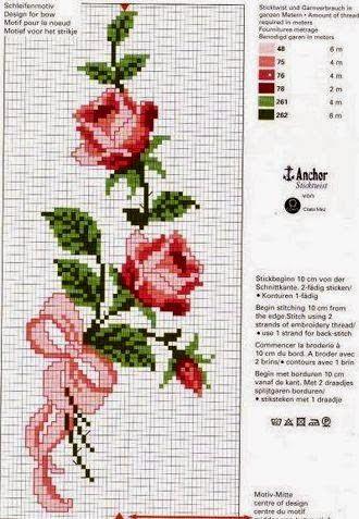 Вышивка цветов крестом схемы: бесплатно старинные