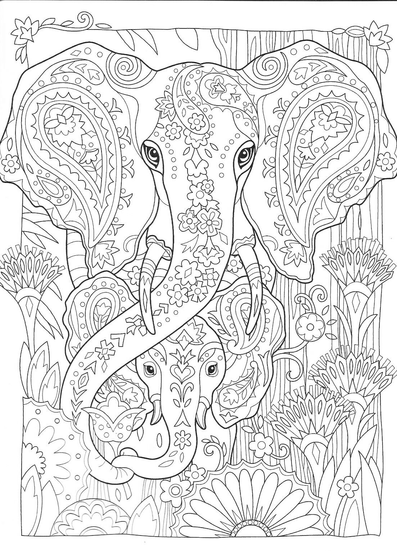 Pin by Petra Renken on kleuren  Elephant coloring page, Animal