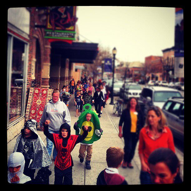 Wow Huge Protest On Main Street Oh No That S Right It S Halloween Main Street Bozeman Downtown