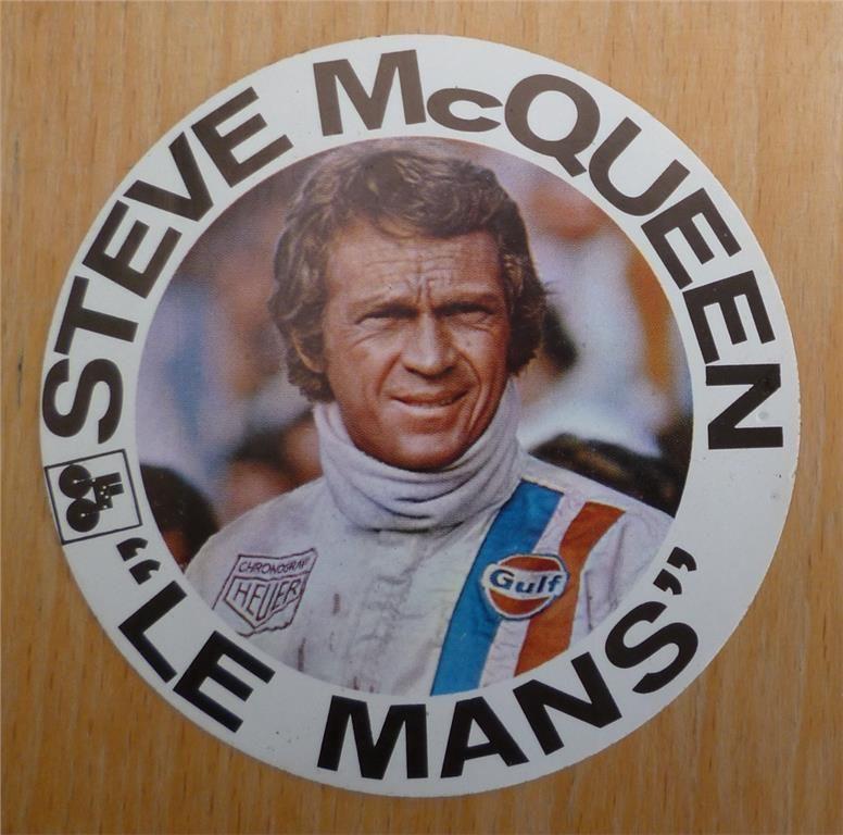 Gulf Steve McQueen Le Mans klistermärke