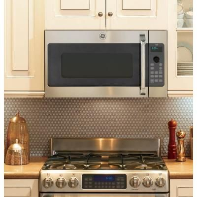 Ge Cafe 1 7 Cu Ft Over The Range Speed Cook Convection Microwave In Stainless Steel Csa1201rss The Home Depot Advantium Advantium Oven Range Microwave