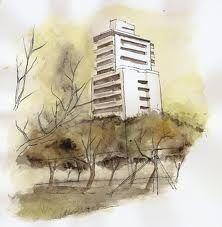 Resultado de imagen para planos de arquitectura con acuarela