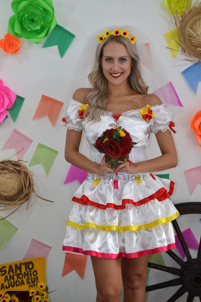 Vestido Noivinha Cindy - Caipira Chic - comprar online | Festa ...