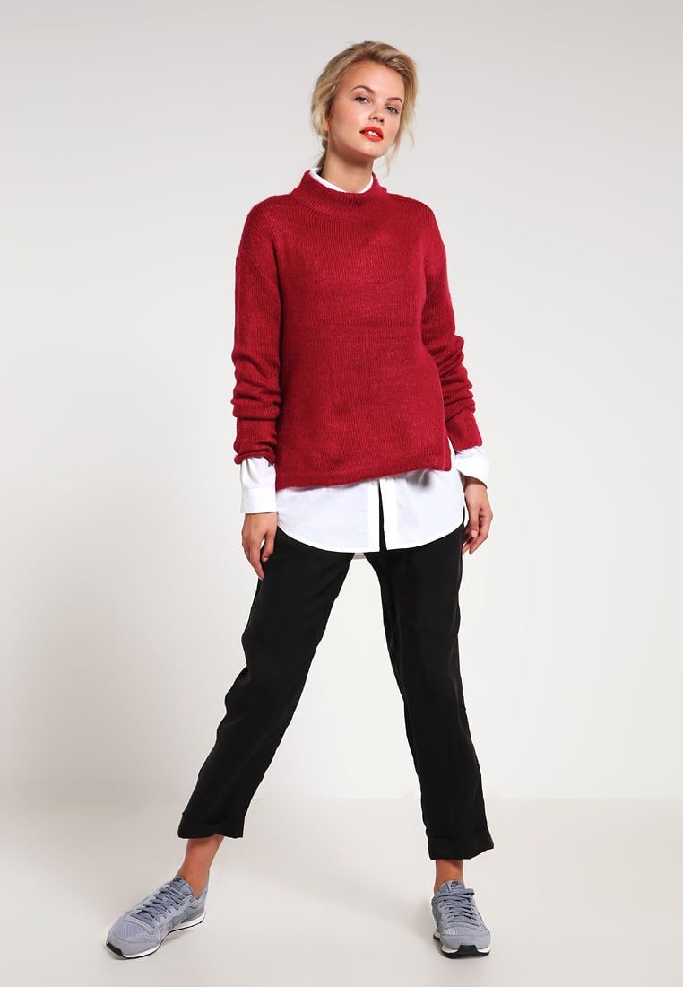 First and I FISALIRA - Sweter - rumba red - Zalando.pl