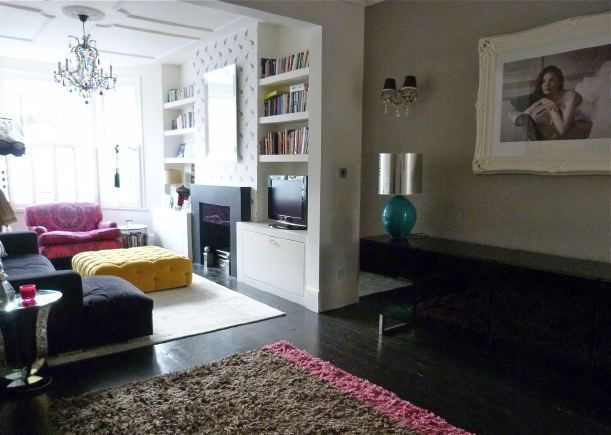 Victorian terraced house with open plan living room for Small terraced house living room ideas