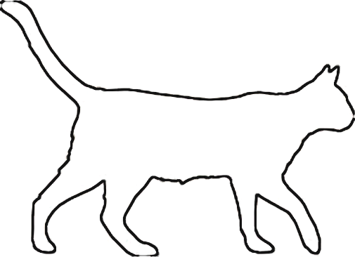 Halloween Cat Outline Clipart - Clipart Kid