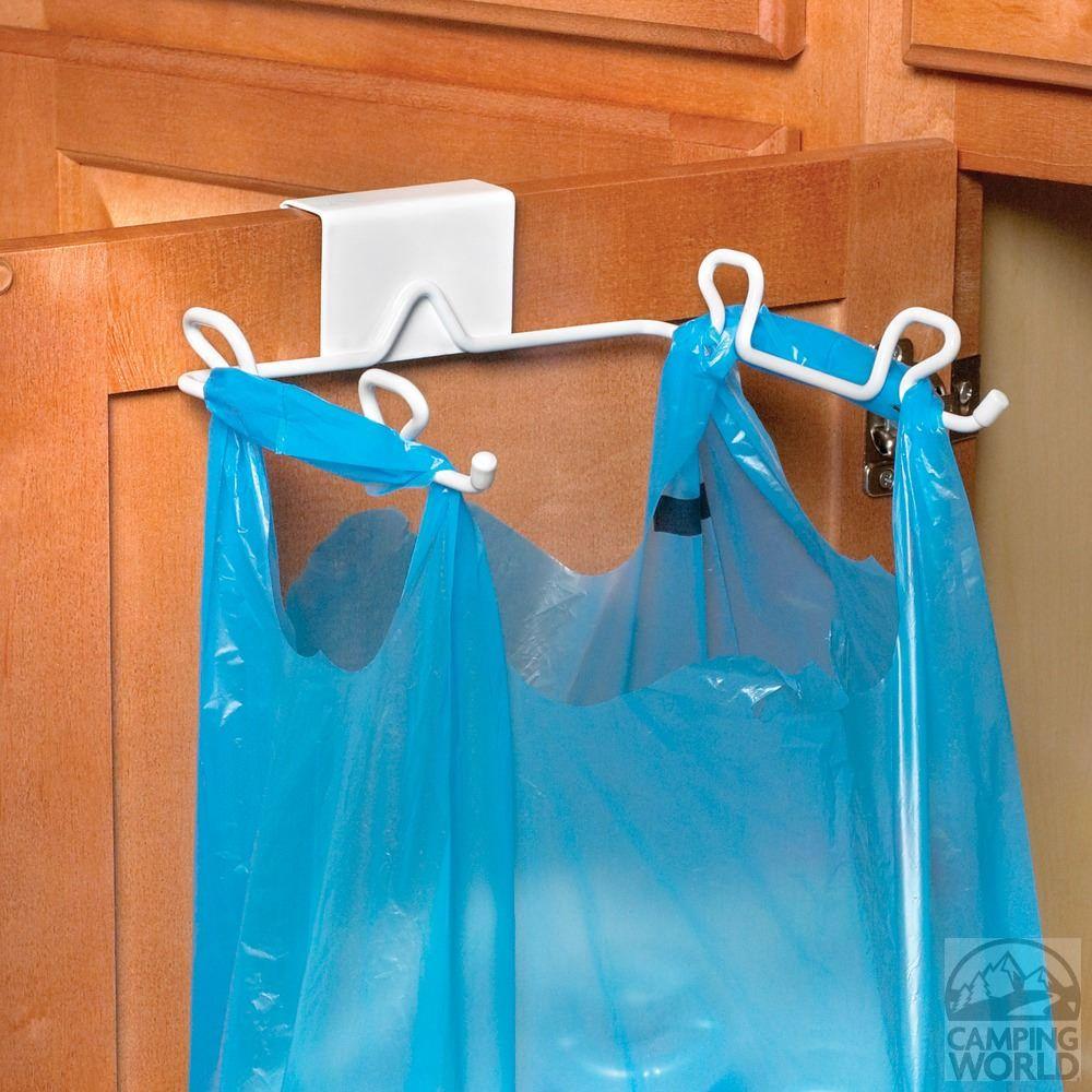 Over Cabinet Drawer Trash Bag Holder Hooks Over Top Of