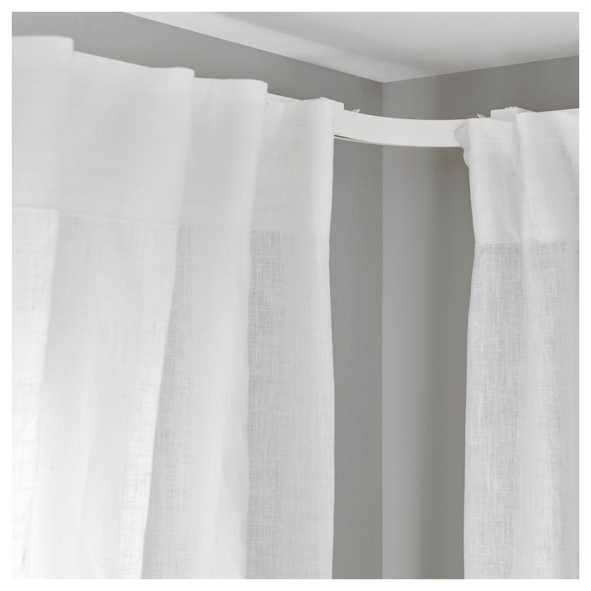 Ikea Vidga Corner Piece Single Track White Curtains