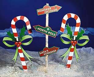 Outdoor Lighted Candy Canes: These Candy Cane Standees turn any locale into a winter wonderland. Each Candy  Cane Standee,Lighting