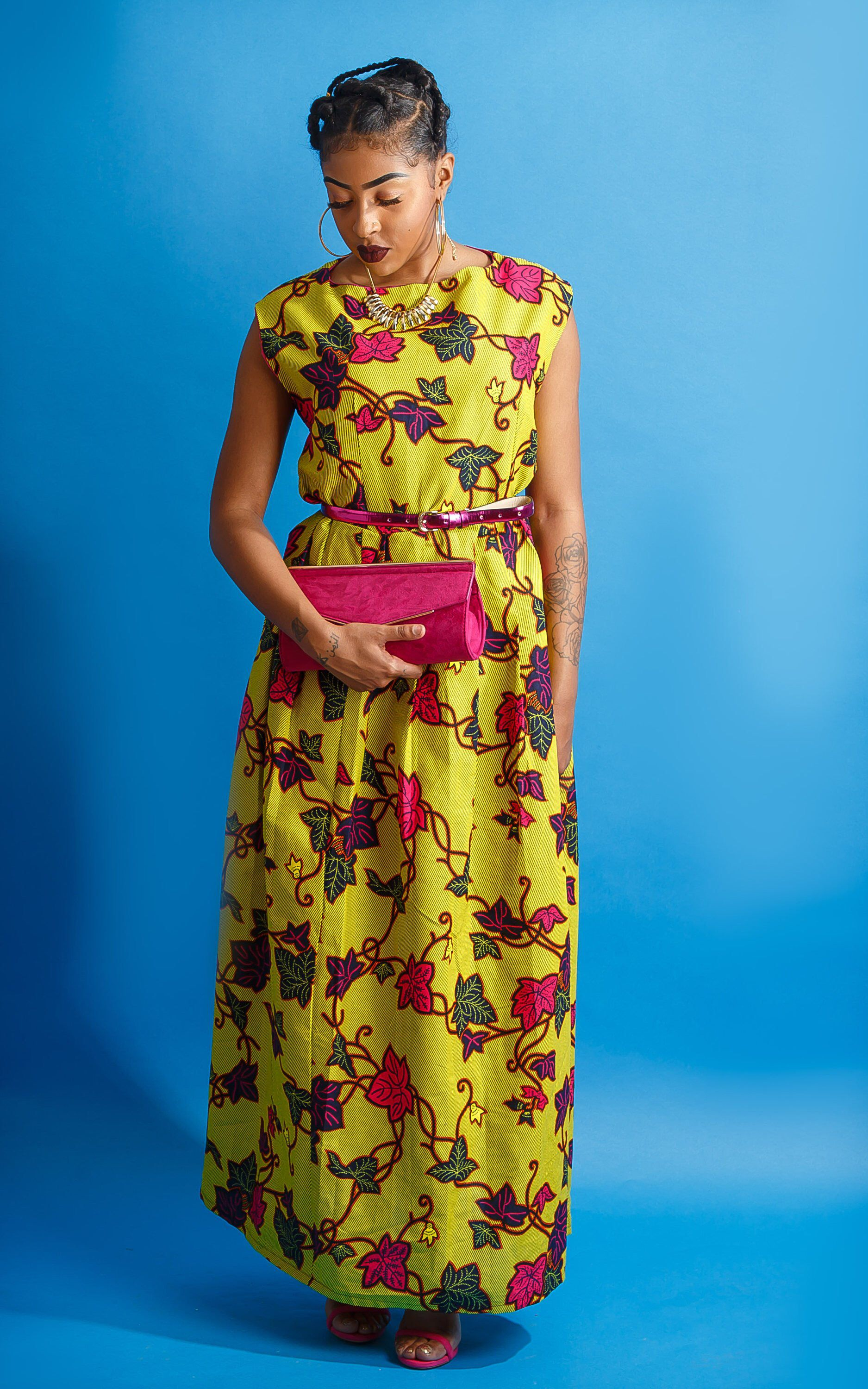 Yellow dress for women  Excited to share this item from my etsy shop Ankara long dress