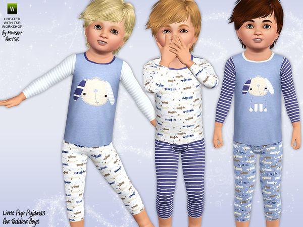 Little Pup Sleepwear by Minicart - Sims 3 Downloads CC Caboodle