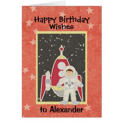 Boy Astronaut In Space Birthday Card Birthday Cards Pinterest