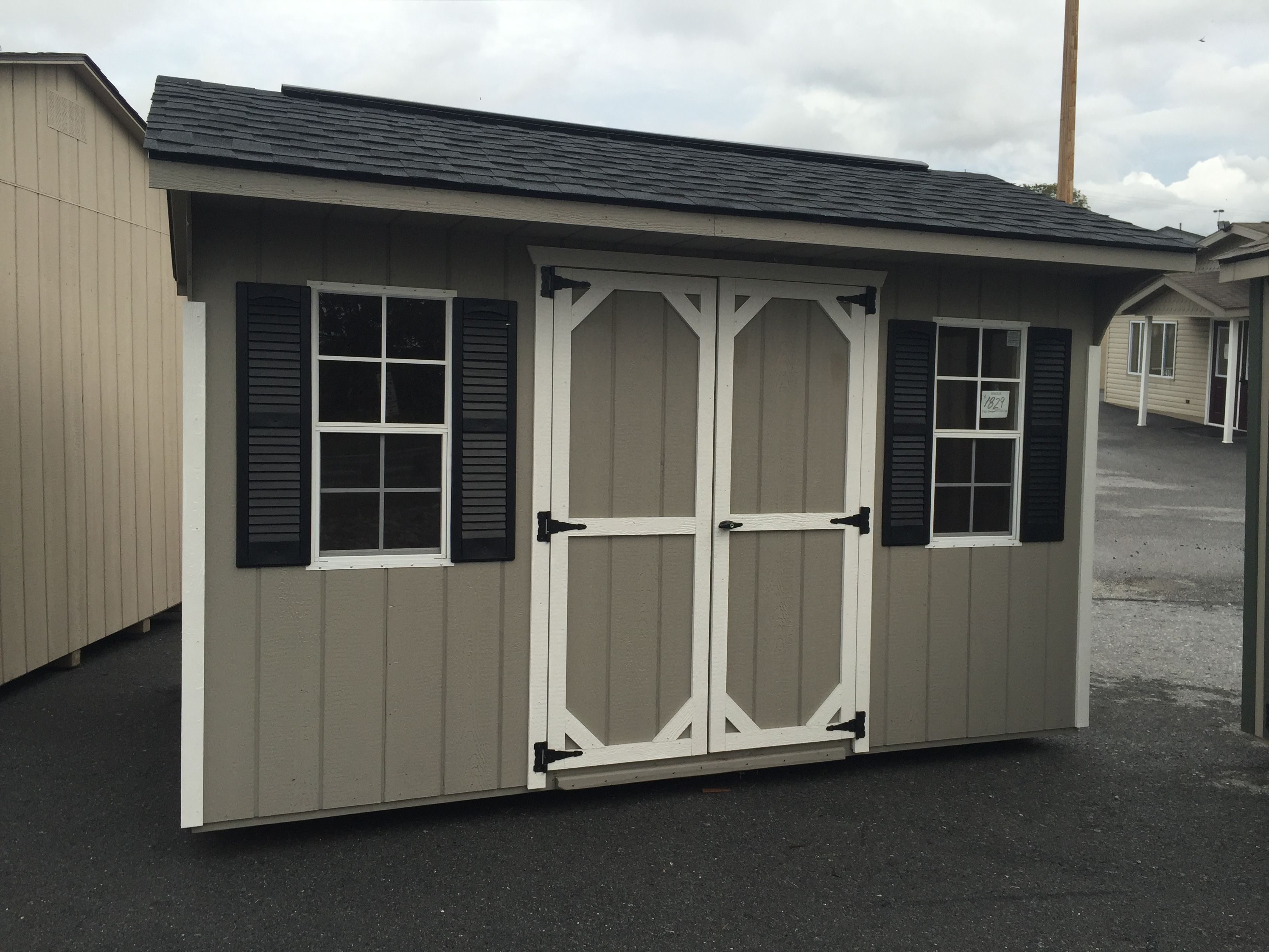 8x12 Carriage Shed $1829 In stock and ready for quick delivery