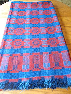 Marvelous Antique Hand Woven Wool Coverlet For Sale At More Than McCoy On TIAS