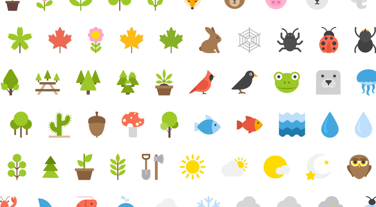 Free Download 100 Nature Icons by Vecteezy Icon design
