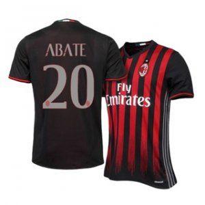 Ac Milan 16 17 Season Home Black Red 20 Abate Soccer Jersey H69 Ac Milan Cheap Football Shirts Milan