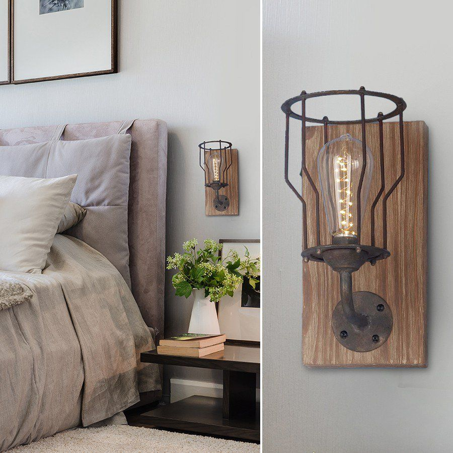 Hang Our Rustic Led Wall Sconce In Your Living Room Bedroom Kitchen Bathroom Or Entryway For More Wall Sconces Farmhouse Wall Sconces Wall Sconces Sconces