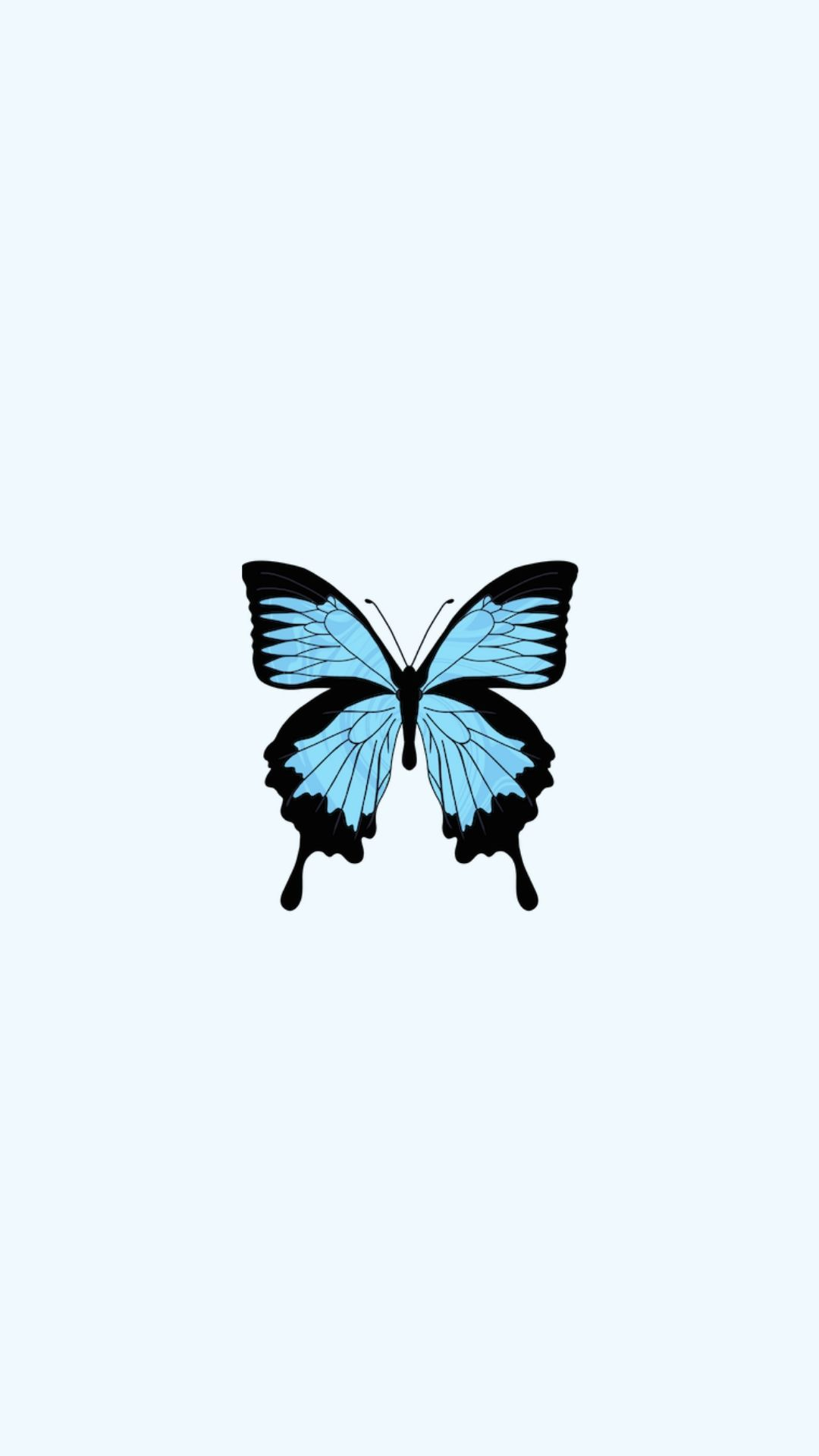 Aesthetic Tumblr Cute Blue Butterfly Wallpaper - Download ...