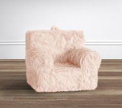 Blush Faux Fur Monique Lhuillier Anywhere Chair