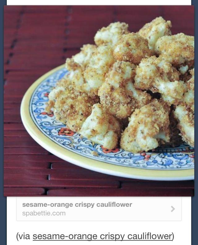 Sesame orange cauliflower find on tumblr raw foods pinterest food forumfinder Image collections