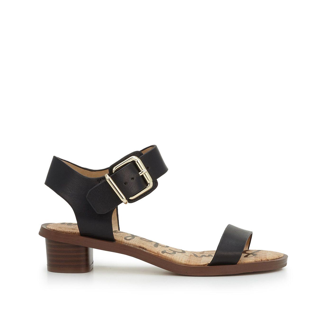 df56f1a47 Trina Block Heel Sandal by Sam Edelman - Black Leather