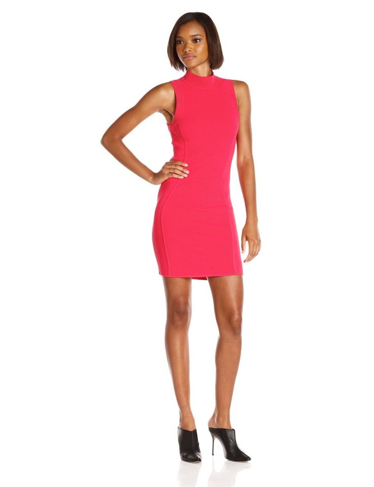 Parker #Womens Amy #Halter #Sleeveless #MockNeck #Rosebud Sweater Dress #Dresses #Nylon #Parker @parkernewyork #Polyester #Razzmatazz #WTS #WhoTopsSyle