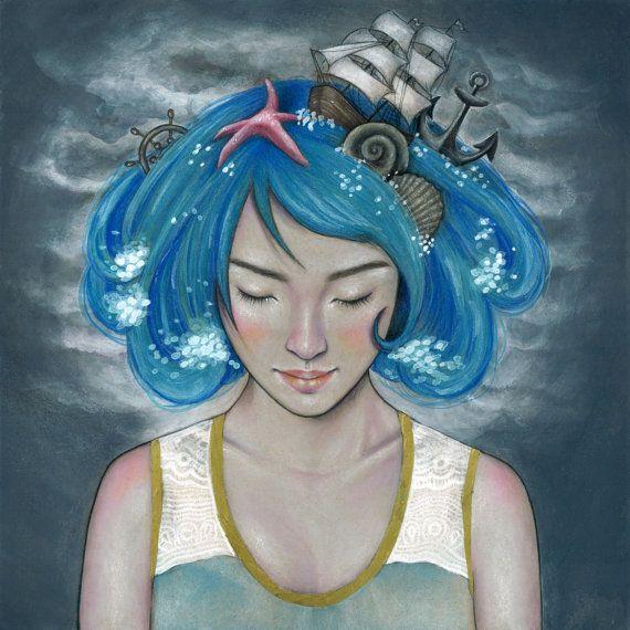Adrift Print by CandaceMcKayArt on Etsy