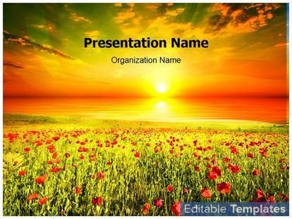 Beautiful Nature PowerPoint Template Comes With Different Editable Charts.  Graphs And Diagrams Slides To Give Professional Look To You Presentation.