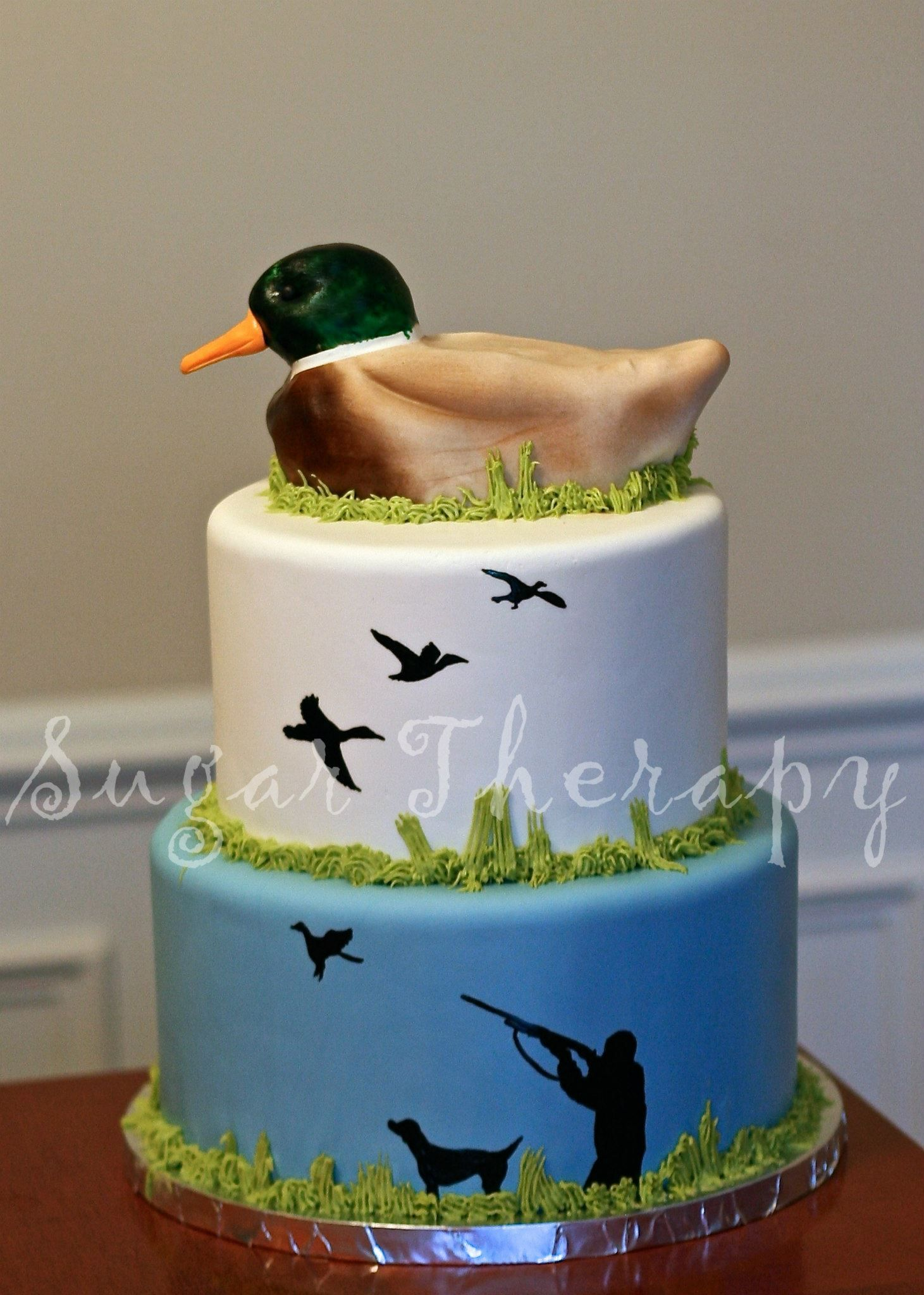 Mallard Duck Hunter Cake By Sugar Therapy With Images Hunting