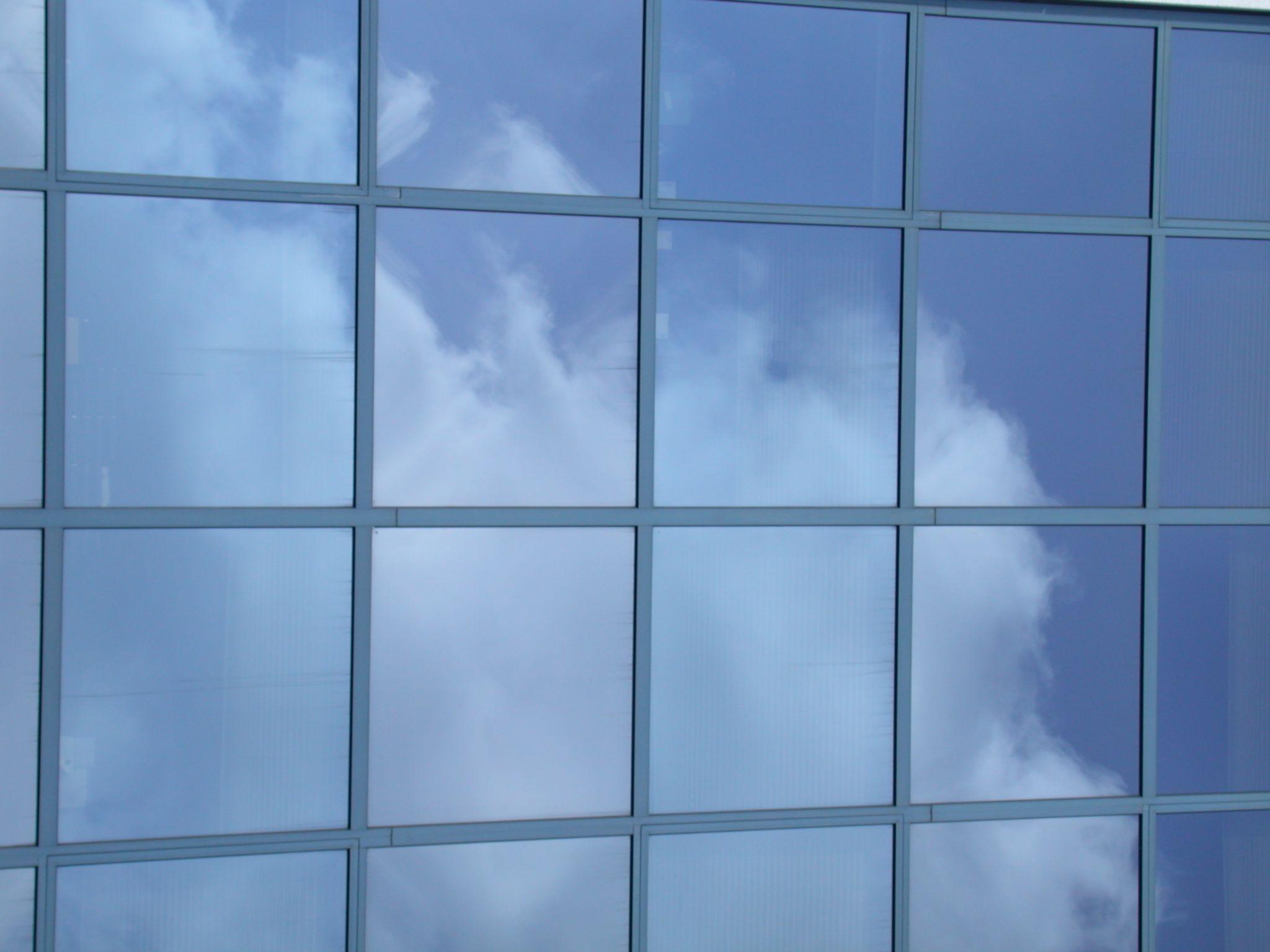 Glass Windows Building Clouds Sky Clouds Glass Window Glass