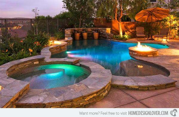 Garten Pool und Feuerstelle zusammenstellen - 15 Ideen | einfache ...