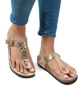 66b56a8fa29 Women s BIRKENSTOCK Gizeh Birko Flor Metallic Stone Sandal in Copper ...